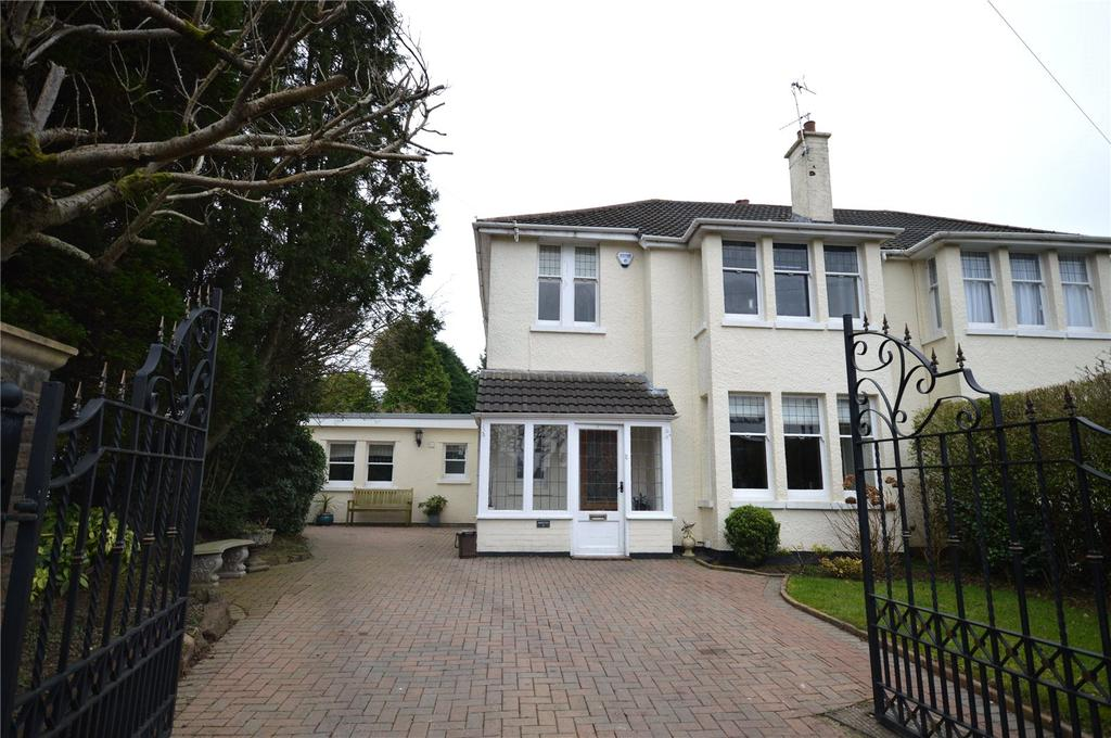 4 Bedrooms Semi Detached House for sale in St Edeyrns Road, Cyncoed, Cardiff, CF23