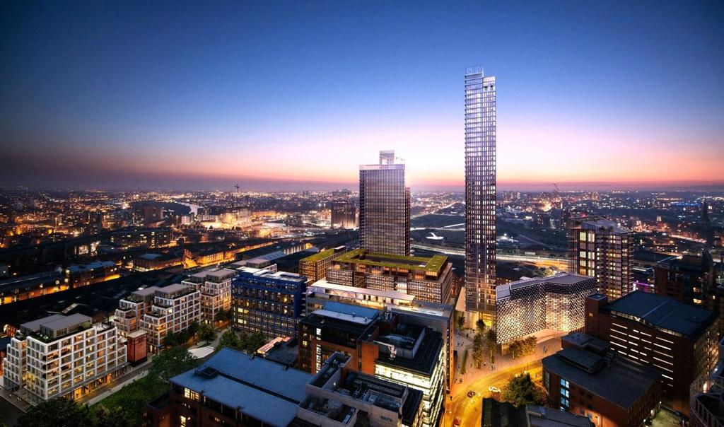2 Bedrooms Flat for sale in St John's Quarter, South Village, Block 403, Manchester