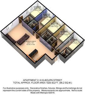5 bedroom apartment to rent - Apartment 2, 6 Kilbourn Street, Nottingham, NG1 3JH