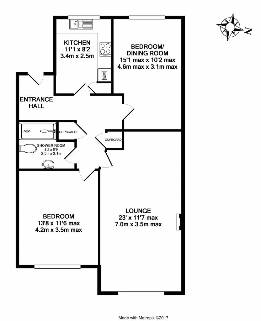 Floorplan: Flat 3 Pinewood...