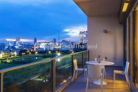 2 bedroom block of apartments  - 2 bedroom unit for sale at 185 Rajadamri. Corner unit facing Sport Club on high floor.