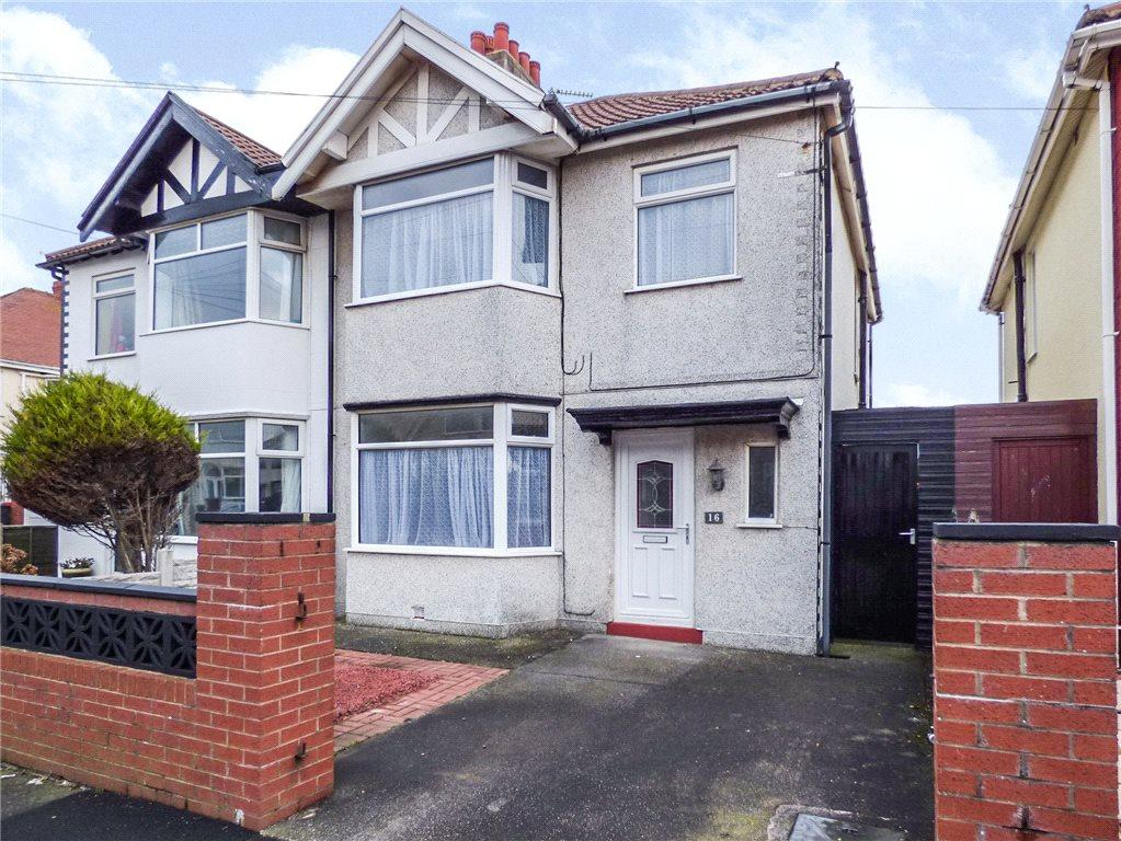 3 Bedrooms Semi Detached House for sale in Riversleigh Avenue, Blackpool, Lancashire