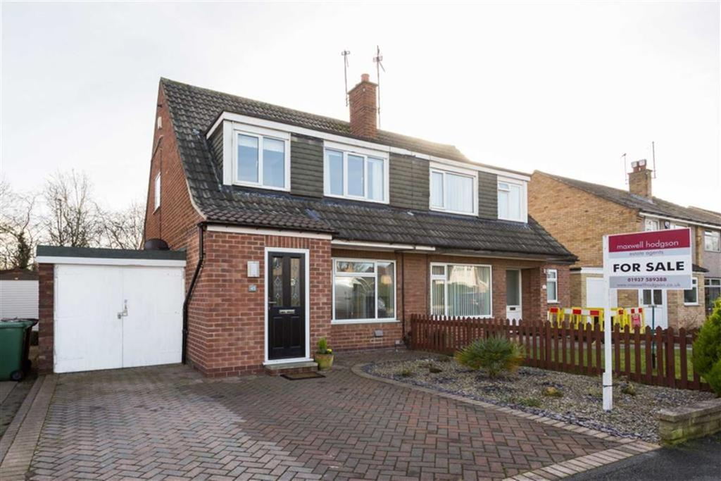3 Bedrooms Semi Detached House for sale in Glenfield Avenue, Wetherby, LS22