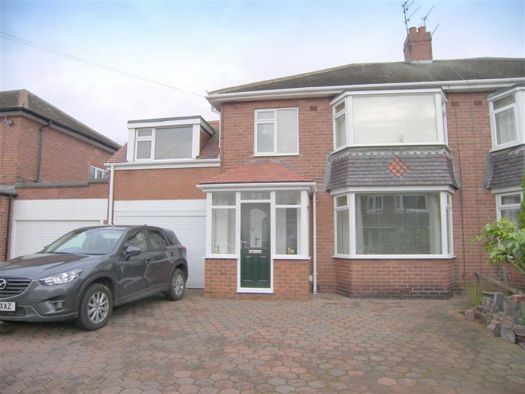 4 Bedrooms Semi Detached House for sale in West Dene Drive, North Shields, Tyne Wear, NE30