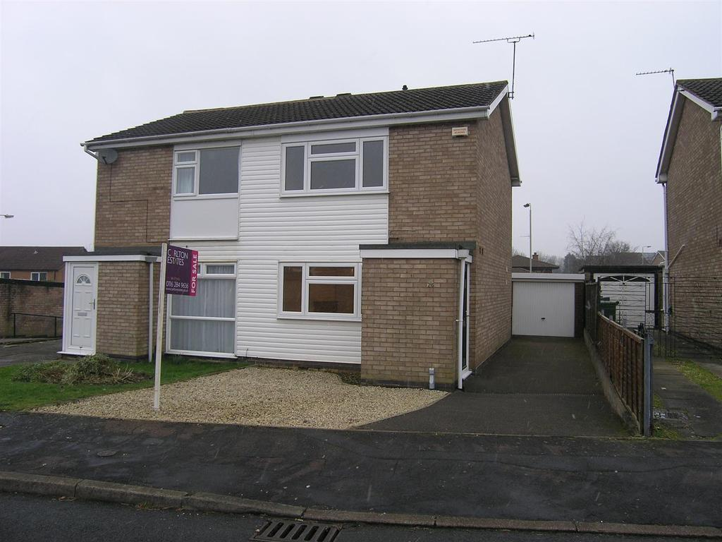 2 Bedrooms Semi Detached House for sale in Culworth Drive, Wigston