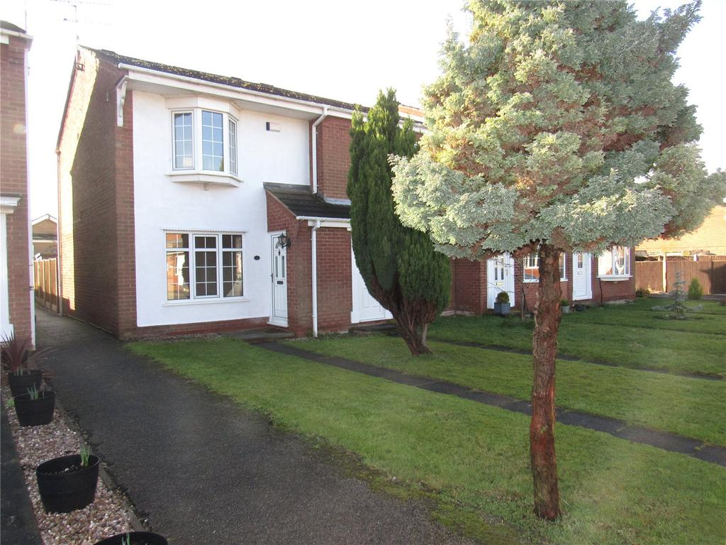 2 Bedrooms End Of Terrace House for sale in Rutland Close, Warsop, Nottinghamshire, NG20