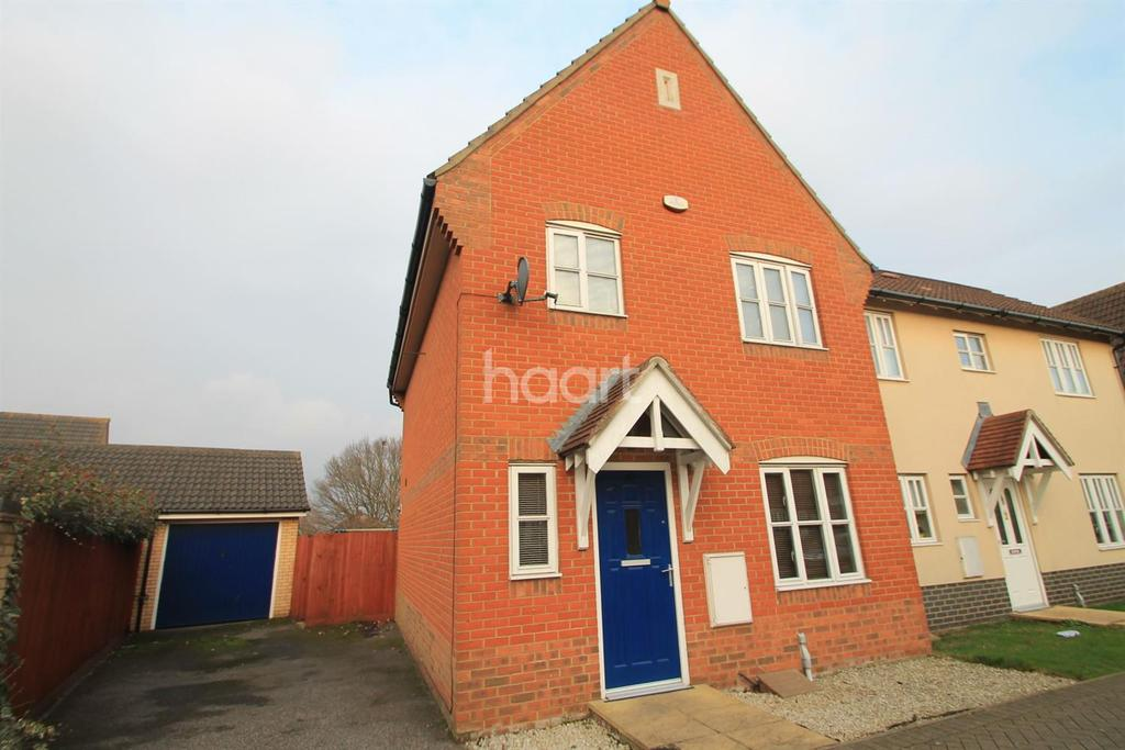 3 Bedrooms Semi Detached House for sale in Damselfly Road, Ipswich