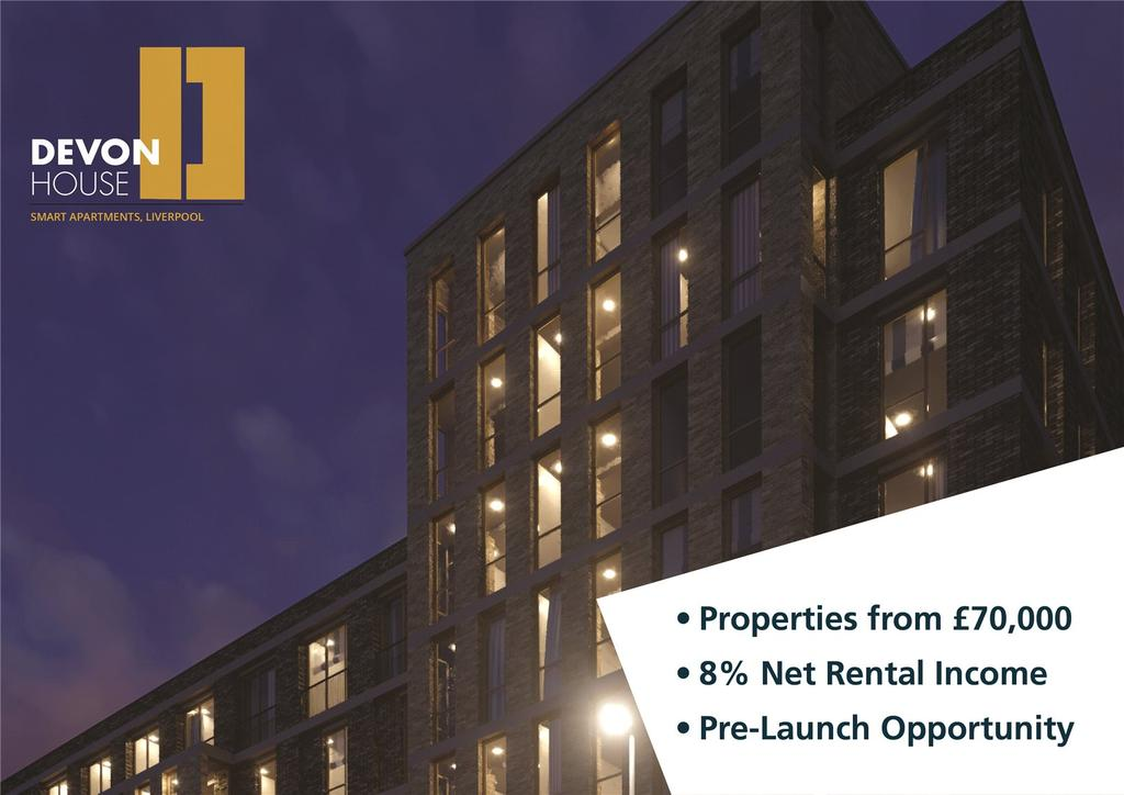 1 Bedroom Apartment Flat for sale in Devon Street, Liverpool, CH1