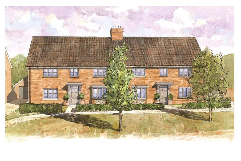 3 Bedrooms Semi Detached House for sale in Church Road, Risby, Nr. Bury St Edmunds, Suffolk, IP28