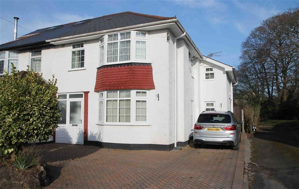 4 Bedrooms Semi Detached House for sale in Lon-Y-Deri, Rhiwbina, Cardiff