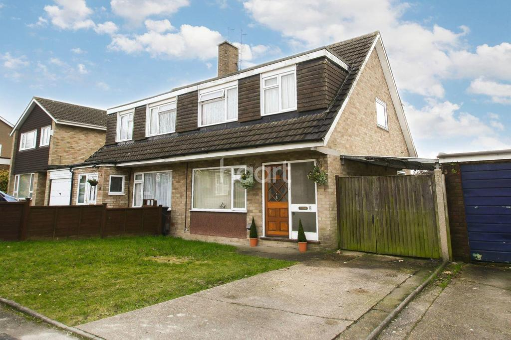 3 Bedrooms Semi Detached House for sale in Chichester Close, Dunstable