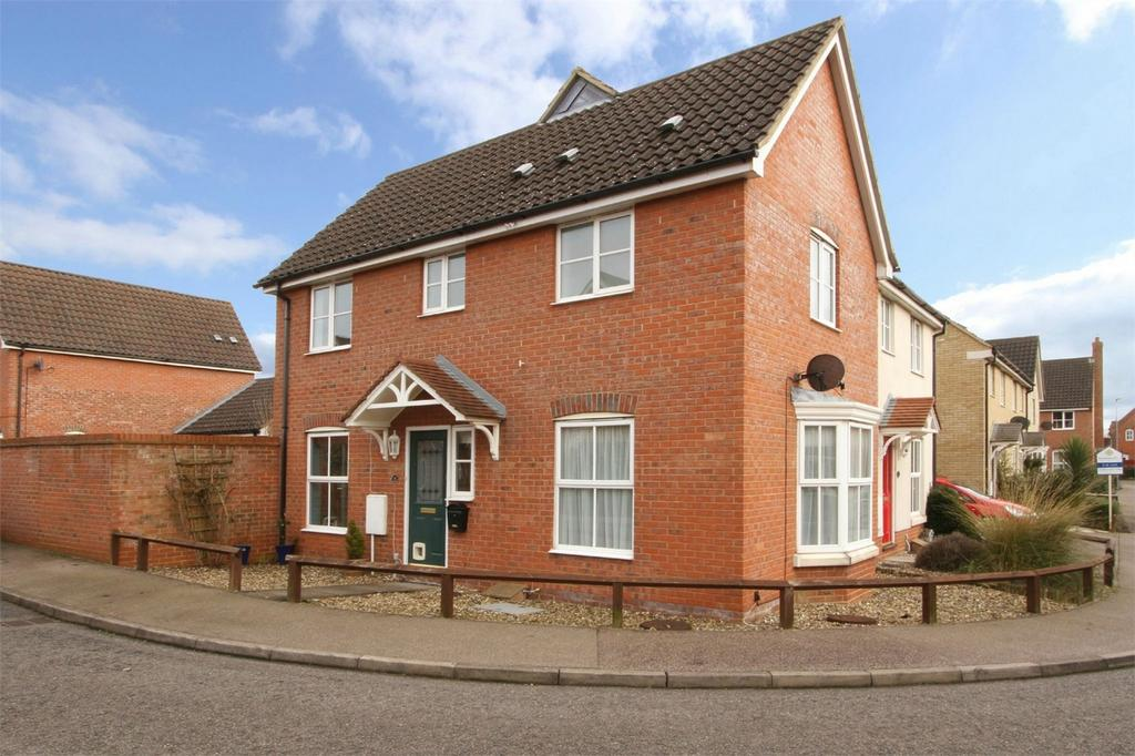 3 Bedrooms Semi Detached House for sale in Petty Spurge Square, Wymondham, Norfolk