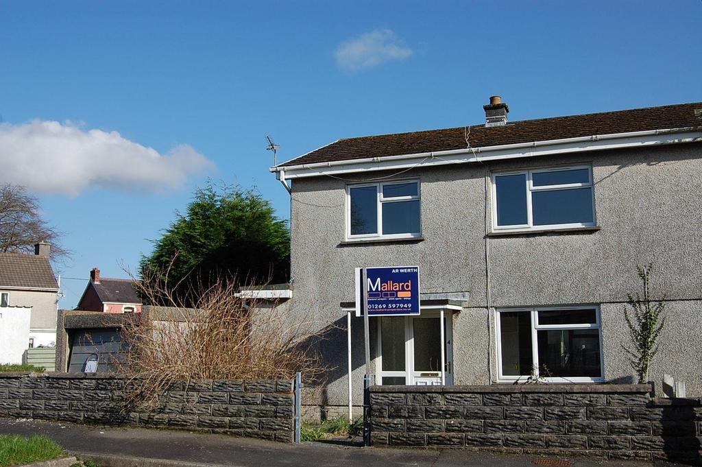 3 Bedrooms Semi Detached House for sale in Ger-Yr-Afon, Glanamman, Ammanford