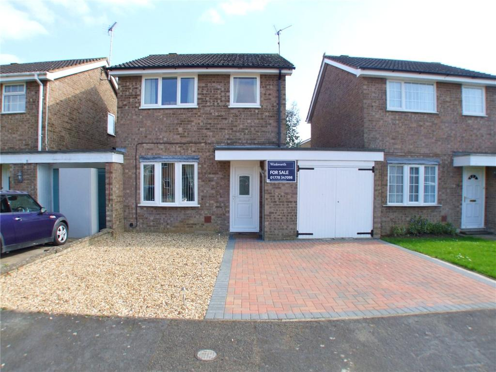 3 Bedrooms Link Detached House for sale in Knight Close, Deeping St. James, Peterborough, PE6
