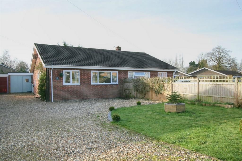 2 Bedrooms Semi Detached Bungalow for sale in Admirals Walk, Hingham, NORWICH, Norfolk
