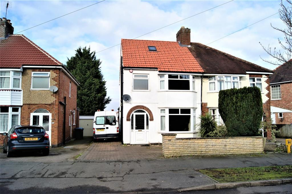 4 Bedrooms Semi Detached House for sale in Belmont Road, Rugby