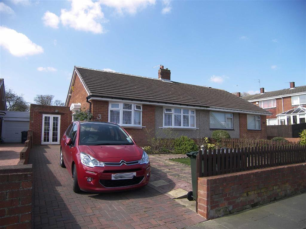 2 Bedrooms Semi Detached Bungalow for sale in Chirton Hill Drive, North Shields, Tyne Wear, NE29