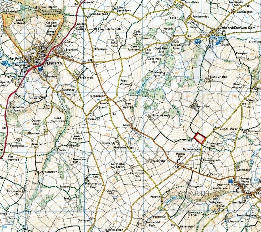 Farm Land Commercial for sale in part of Llwynrheol Farm, Oakford, Mydroilyn, Ceredigion