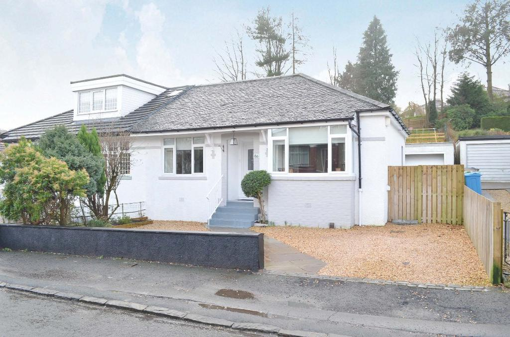 3 Bedrooms Semi Detached Bungalow for sale in Nethervale Avenue, Netherlee, Glasgow, G44 3XR