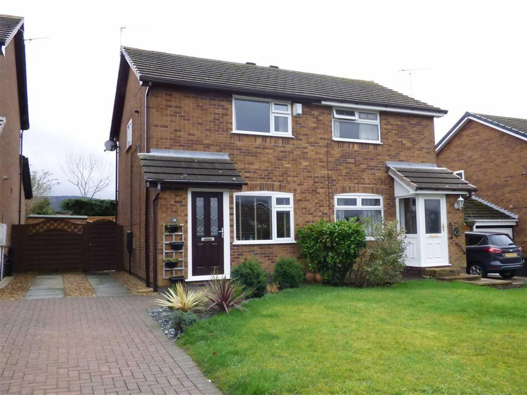 2 Bedrooms Semi Detached House for sale in Hillwood Drive, Glossop, Derbyshire, SK13