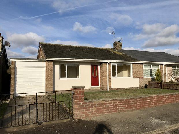 2 Bedrooms Semi Detached Bungalow for sale in RABY ROAD, NEWTON HALL, DURHAM CITY