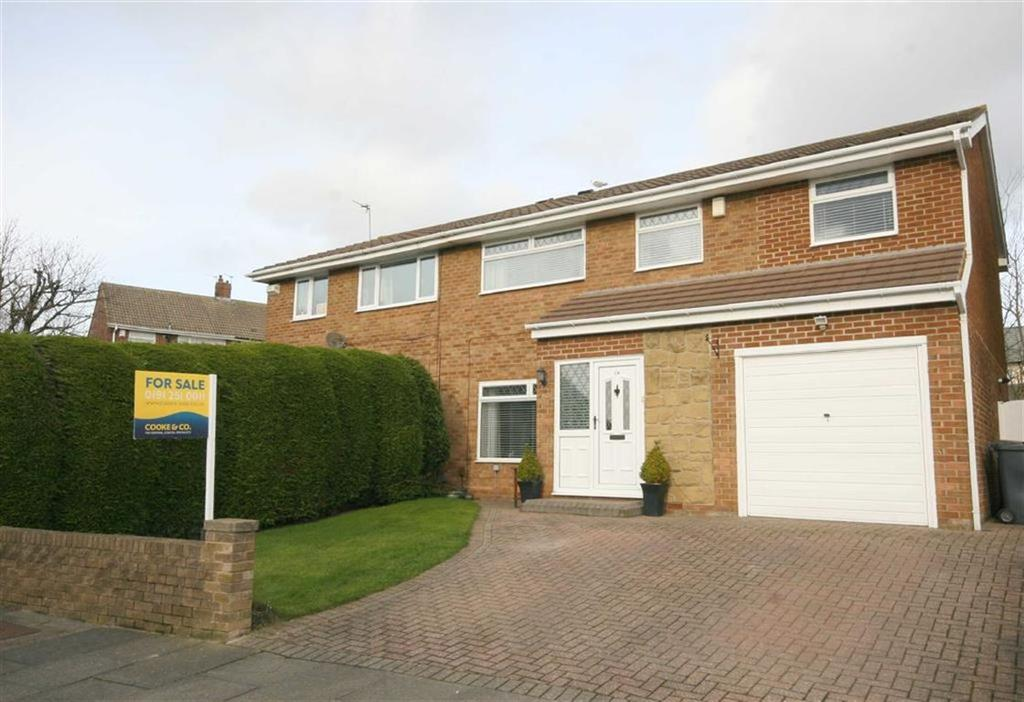 4 Bedrooms Semi Detached House for sale in Moor Close, North Shields, Tyne Wear, NE29