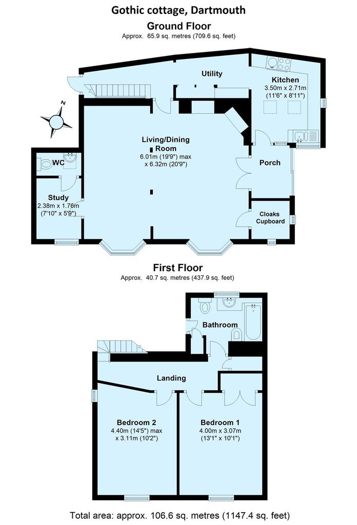 Weeke hill dartmouth devon tq6 2 bed detached house for for Dartmouth floor plans