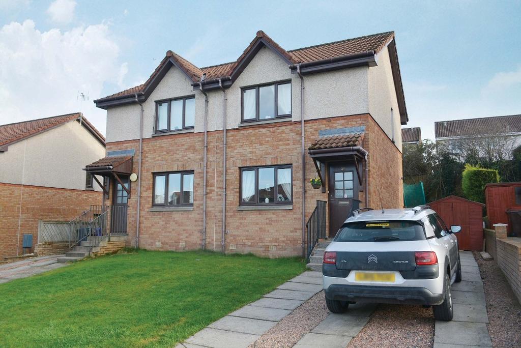 2 Bedrooms Semi Detached House for sale in Milnepark Road, Bannockburn, Stirling, FK7 8NZ