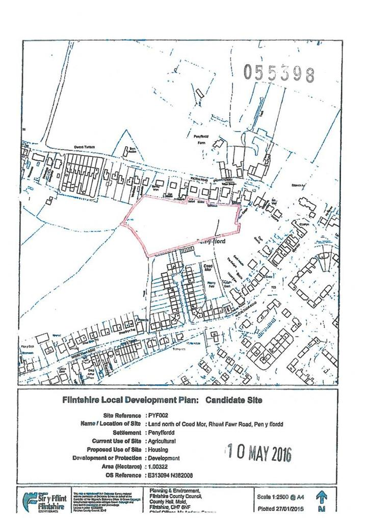 Plot Commercial for sale in Pen-y-Ffordd, Holywell