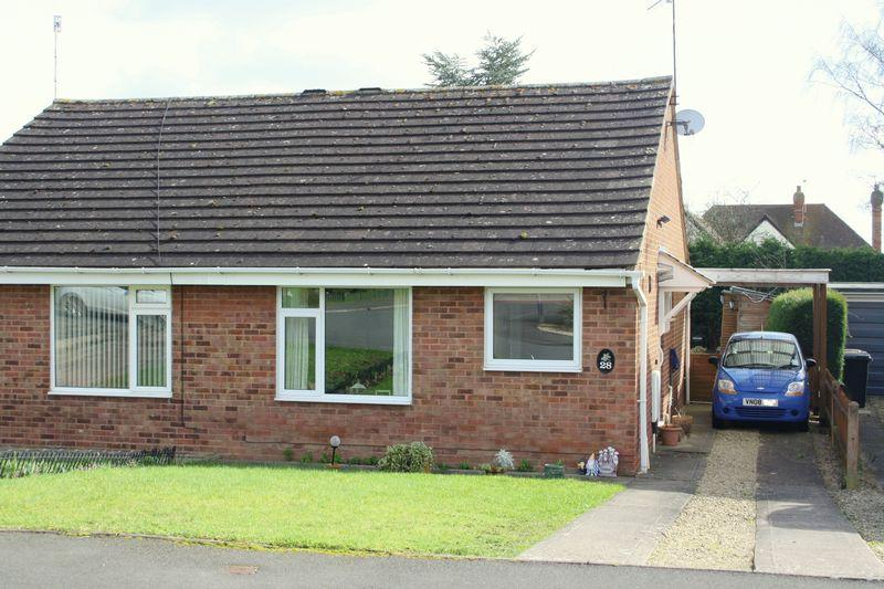 2 Bedrooms Semi Detached Bungalow for sale in Bedford Close, Pershore