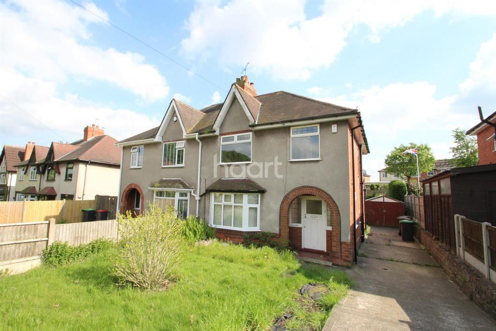 3 Bedrooms Semi Detached House for sale in Beauvale Road, Hucknall