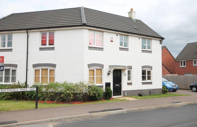 3 Bedrooms Semi Detached House for sale in BATTERSEA PARK WAY, HARLOW FIELDS, MACKWORTH
