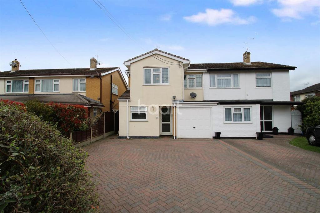 4 Bedrooms Semi Detached House for sale in Lower Road, Hullbridge