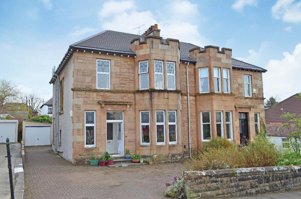 4 Bedrooms Semi Detached House for sale in Belmont Drive, Giffnock, Glasgow, G46 7NZ