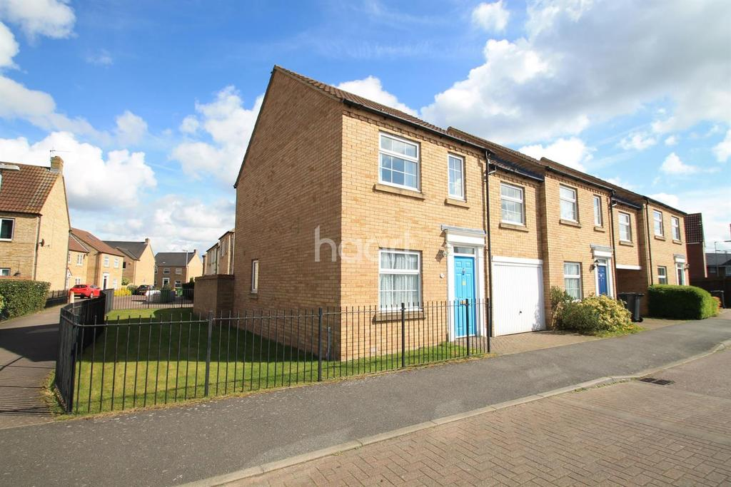 3 Bedrooms End Of Terrace House for sale in Chapman Way, Eynesbury, St Neots
