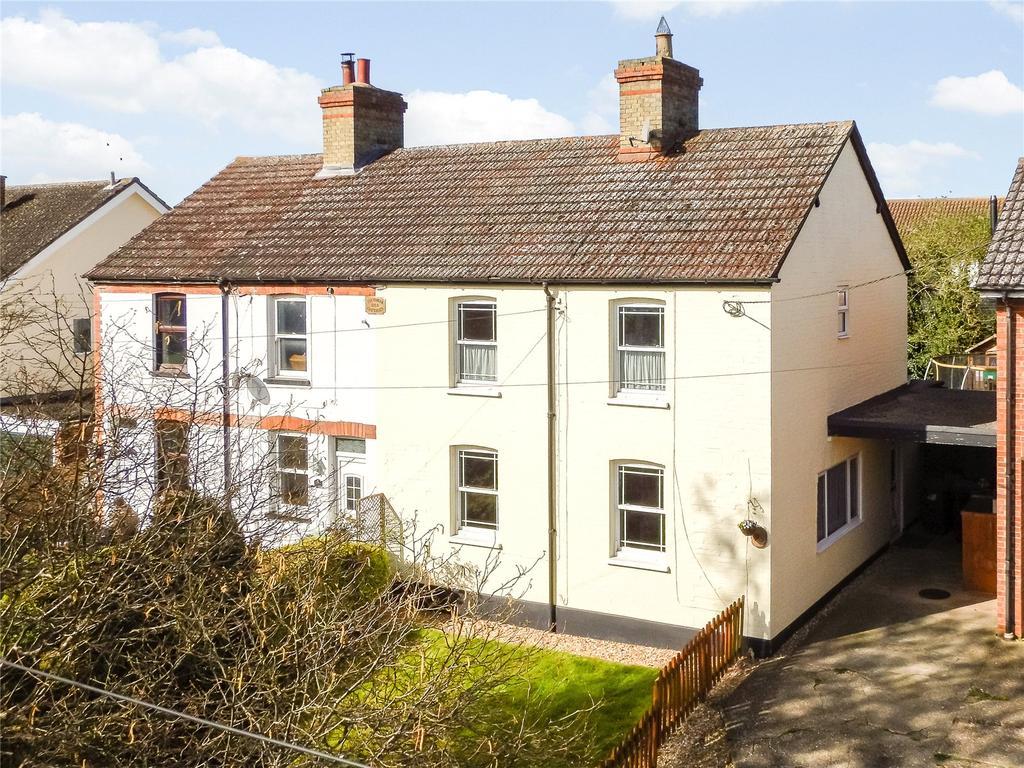 4 Bedrooms Semi Detached House for sale in High Street, Wrestlingworth, Sandy, Bedfordshire