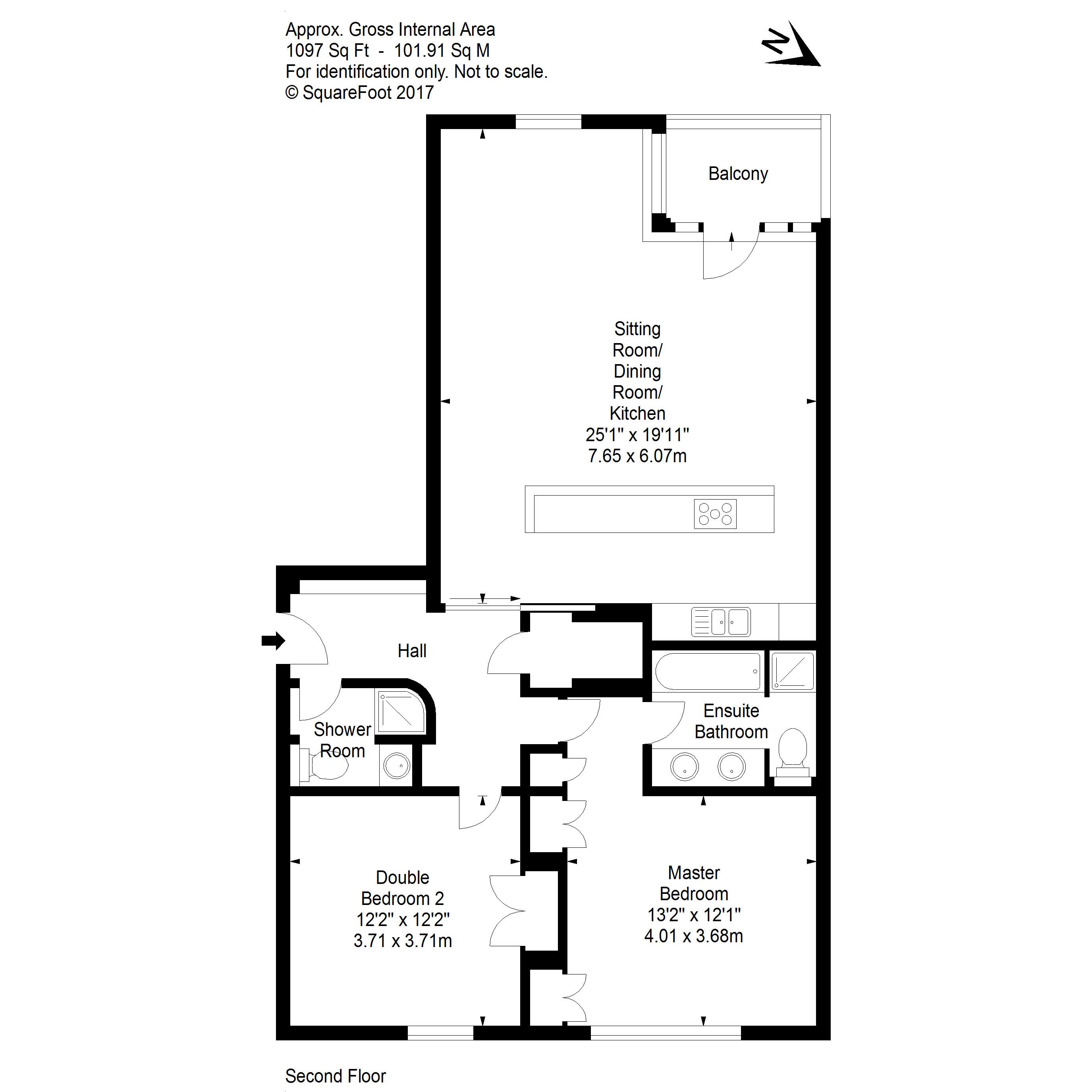 40 9 gardners crescent fountainbridge eh3 8dg 2 bed flat 310 000 floorplan floor plan