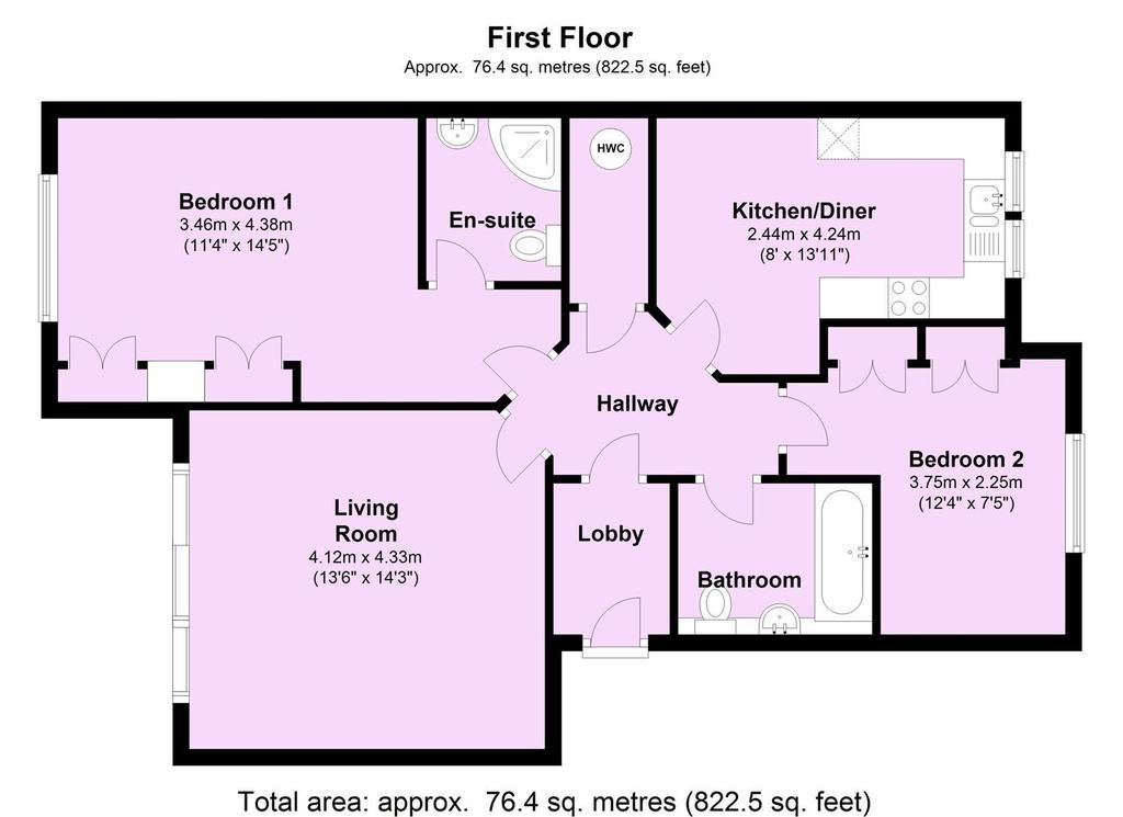 Riverside Lodge, Bishopthorpe Road, York 2 Bed Apartment