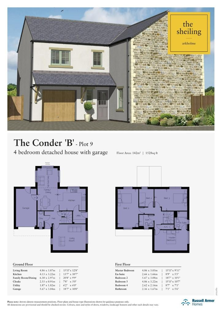 4 Bedrooms Detached House for sale in Plot 9 The Sheiling, Arkholme, Lune Valley, Lancashire LA6 1BA