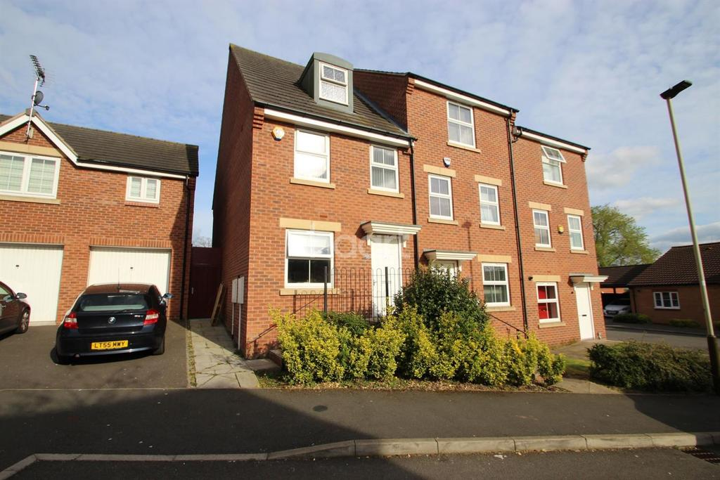 3 Bedrooms End Of Terrace House for sale in Wickford Close, Leicester