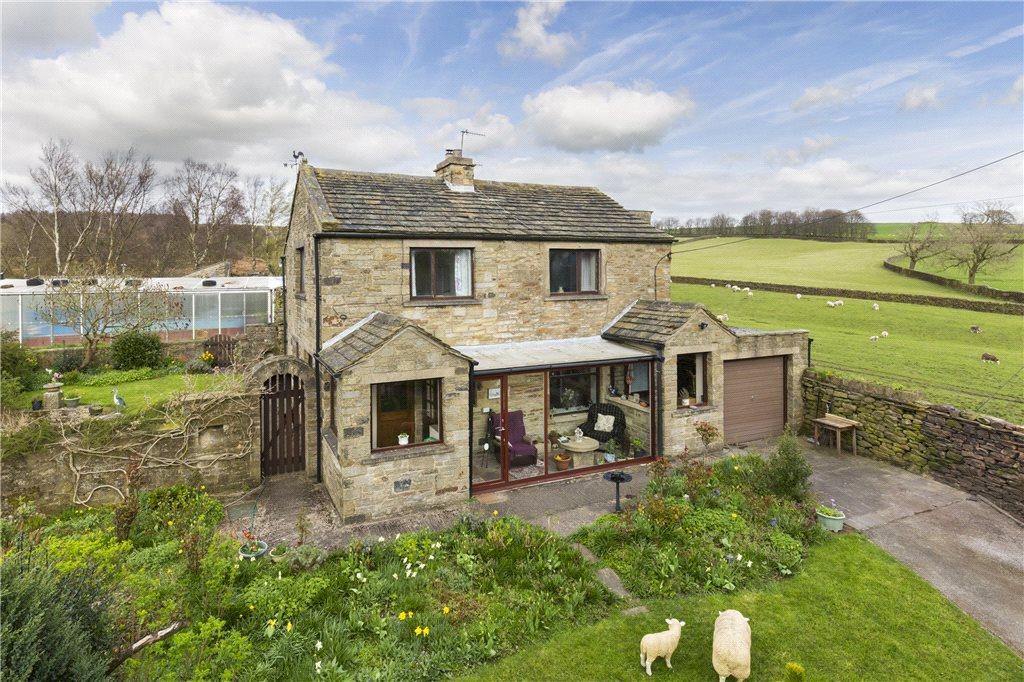 3 Bedrooms Detached House for sale in Crag Top House, Crag Top, Farnhill, Keighley