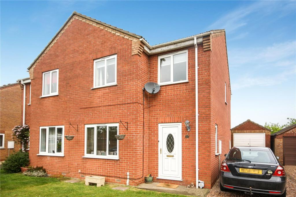 3 Bedrooms Semi Detached House for sale in Park Lea, Ruskington, Sleaford, Lincolnshire, NG34