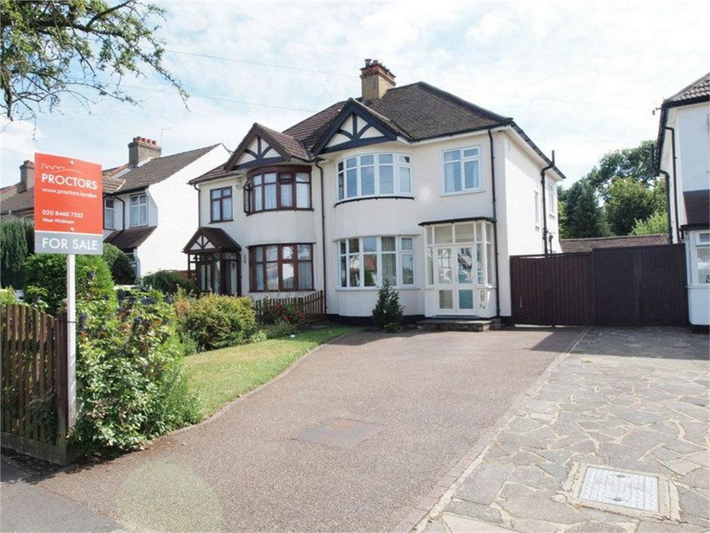 3 Bedrooms Semi Detached House for sale in Pickhurst Rise, West Wickham, Kent