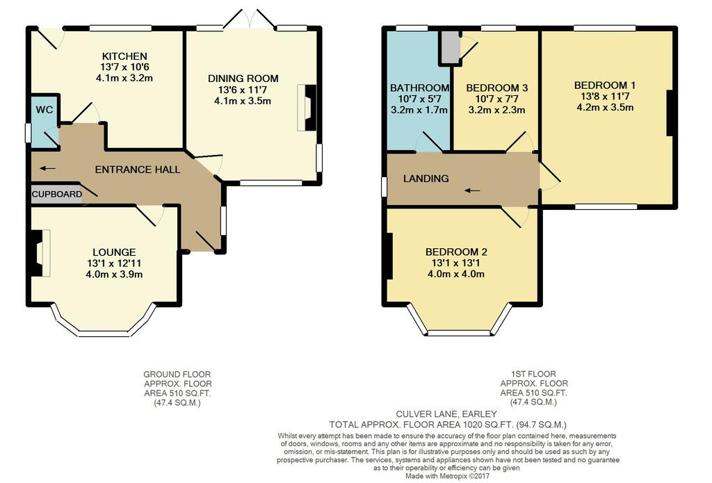 Culver lane earley reading 3 bed detached house for sale for Reading a floor plan