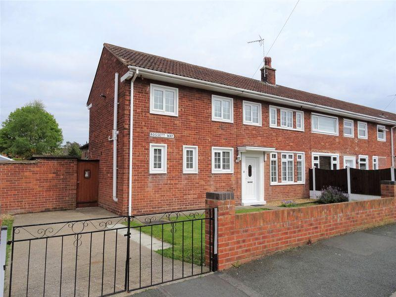 3 Bedrooms End Of Terrace House for sale in Rossett Way, Wrexham