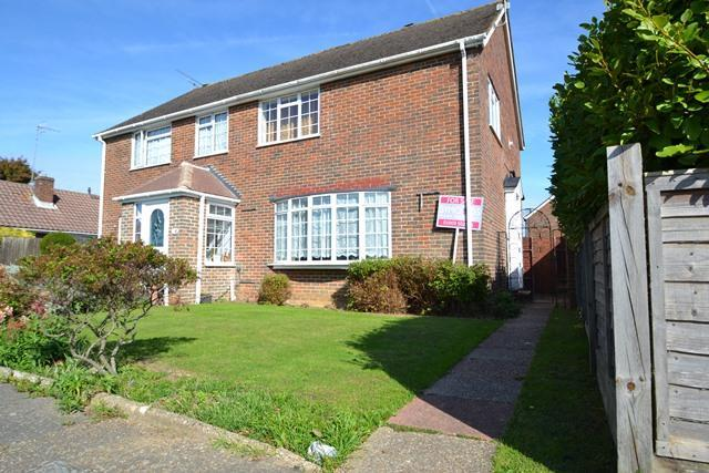 3 Bedrooms Semi Detached House for sale in Westergate Close, Ferring, West Sussex, BN12 5DB