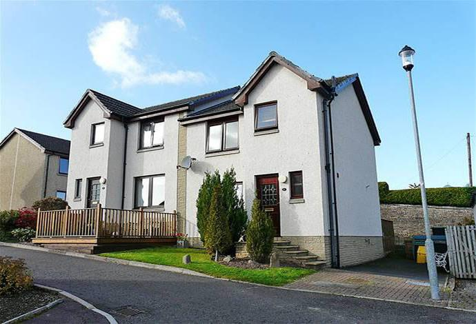 3 Bedrooms Semi Detached House for sale in 8 Knowepark Gardens, Galashiels, TD1 1TA