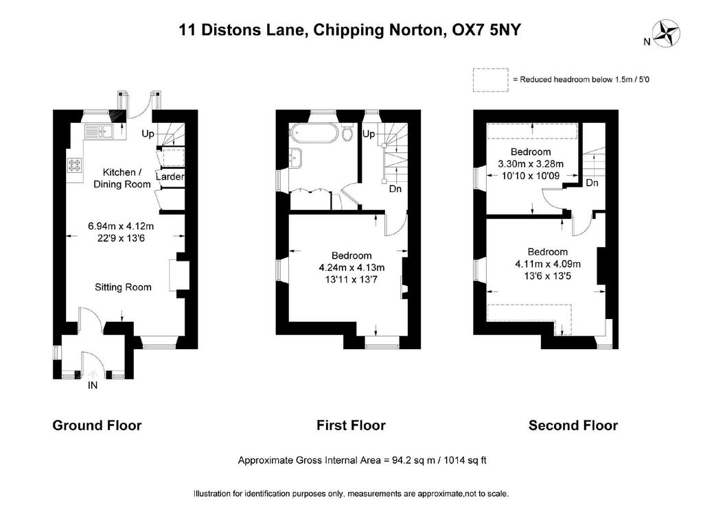 Distons lane chipping norton oxfordshire 3 bed semi for 1125 maxwell lane floor plans