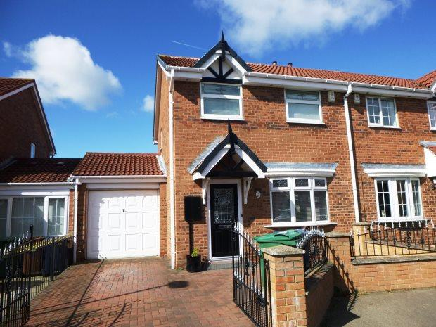 3 Bedrooms Semi Detached House for sale in HOPKINS COURT, PALLION, SUNDERLAND SOUTH