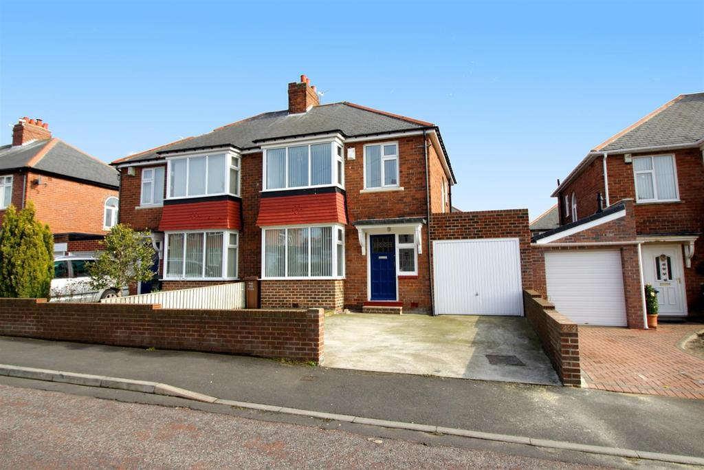 3 Bedrooms Semi Detached House for sale in Teesdale Gardens, High Heaton, Newcastle Upon Tyne